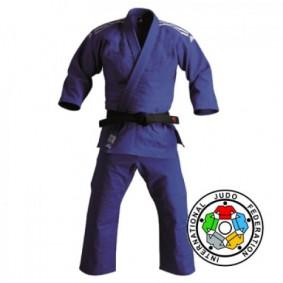 Adidas judopakken - Blauwe Judopakken - IJF approved judopak - Judopakken - Semiwedstrijd- en wedstrijd judopakken - kopen - Adidas Champion II IJF 2015 Approved judopak blauw