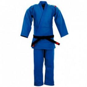 Blauwe Judopakken - Essimo judopakken - Judopakken - Semiwedstrijd- en wedstrijd judopakken - kopen - Essimo Judopak Ippon blauw slimfit