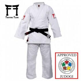 Fighting Films judopakken - IJF approved judopak - Judopakken - Semiwedstrijd- en wedstrijd judopakken - Witte Judopakken - kopen - Fighting Films Superstar 750 IJF 2017 wit Regular fit