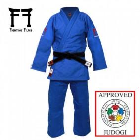 Blauwe Judopakken - Fighting Films judopakken - IJF approved judopak - Judopakken - Semiwedstrijd- en wedstrijd judopakken - kopen - Fighting Films Superstar 750 IJF 2017 blauw Regular fit