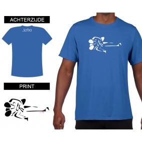 Vrijetijdskleding - kopen - T-shirt Gatame heren Bleu