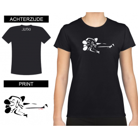 Vrijetijdskleding - kopen - T-shirt Gatame dames Black