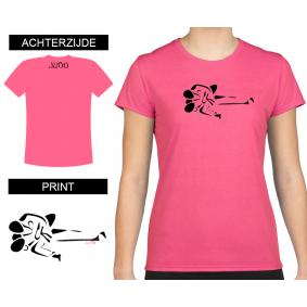 Vrijetijdskleding - kopen - T-shirt Gatame dames Shocking Pink