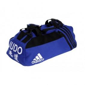 Sporttassen - Judotassen - kopen - Adidas sporttas wafelkatoen blauw