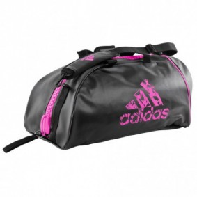 Sporttassen - Judotassen - kopen - Adidas judotas / judorugzak 2 in 1 zwart/roze medium