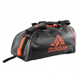 Sporttassen - Judotassen - kopen - Adidas judotas / judorugzak 2 in 1 zwart/oranje medium TIJDELIJK UITVERKOCHT
