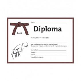 Accessoires - Diploma's - kopen - Judo diploma bruine band (per 25 stuks)