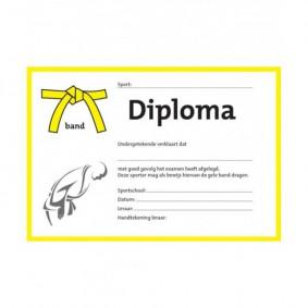 Accessoires - Diploma's - kopen - Judo diploma geleband (per 25 stuks)