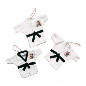 Accessoires - Gadgets en cadeau artikelen - kopen - Mini judopakje wit (Tijdelijk uitverkocht weer leverbaar vanaf Juli 2017)