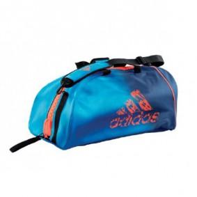 Sporttassen - Judotassen - kopen - Adidas judotas / judorugzak 2 in 1 blauw/oranje medium