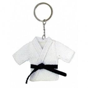 Accessoires - Gadgets en cadeau artikelen - kopen - Sleutelhanger judopakje wit TIJDELIJK UITVERKOCHT