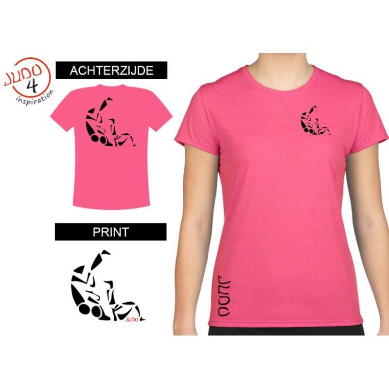 T-shirt Sutemi dames Shocking Pink