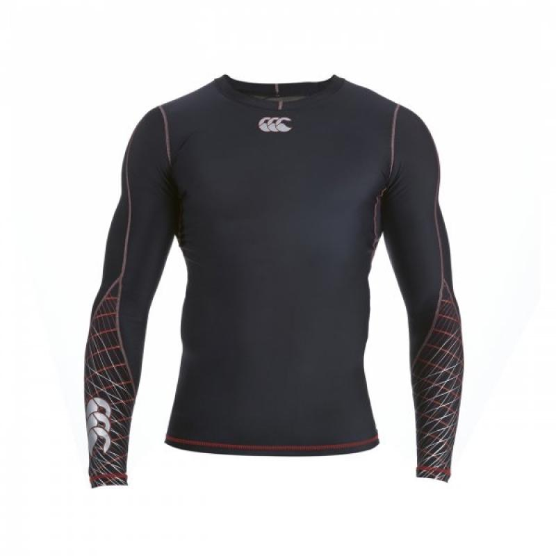 Canterbury Mercury TCR Compression Long Sleeve Top - Black