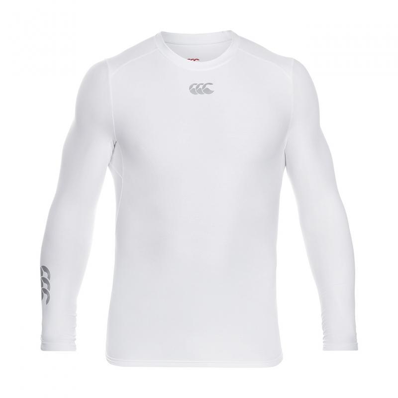 Canterbury Thermoreg Long Sleeve Top White Heren
