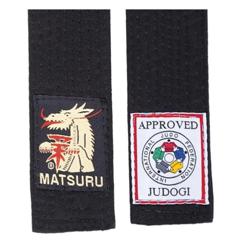 Matsuru Judoband Zwarte Band IJF